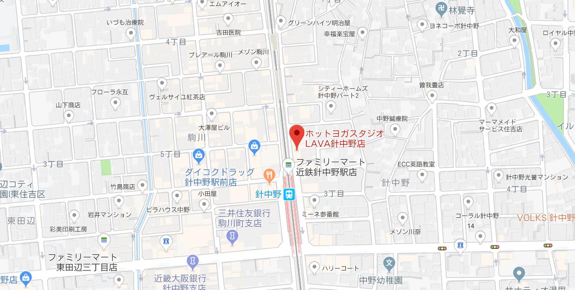 針中野駅周辺のヨガマップ