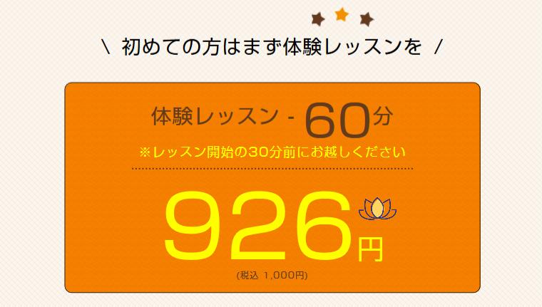 泉佐野市内のヨガ体験レッスン例