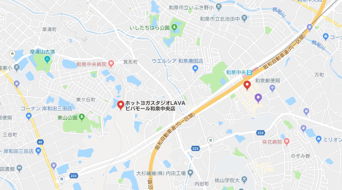 和泉市内のヨガマップ