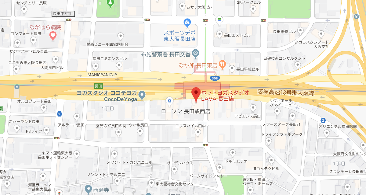 長田近くのヨガマップ