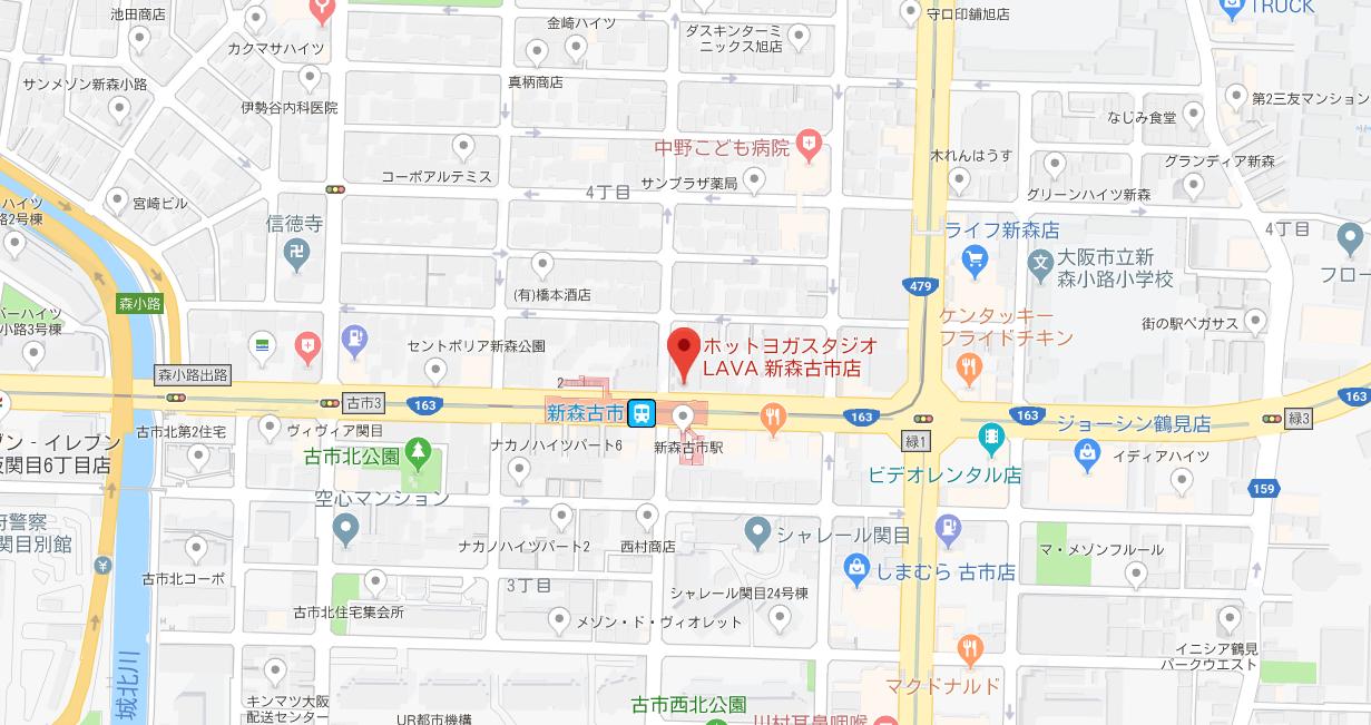 新森古市駅周辺のヨガマップ