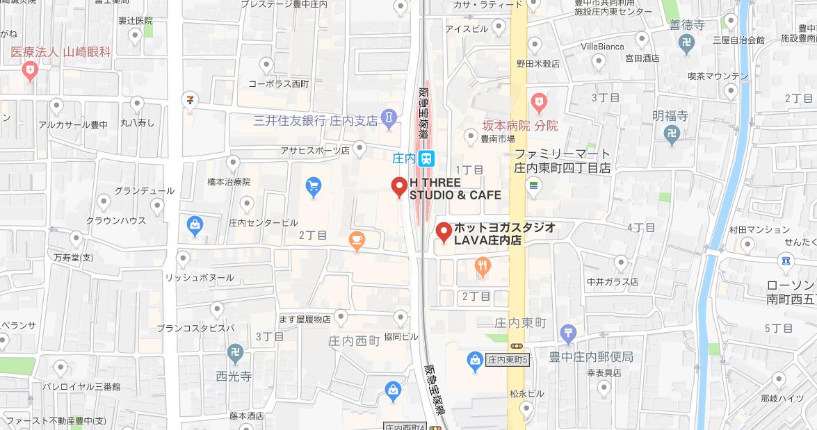 庄内ヨガのマップ検索